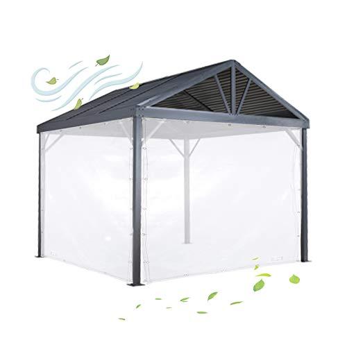 Lona MYAN Impermeable, Toldo Transparente PVC Anticongelante Lluvia Y A Prueba De Polvo Cubrir con Reforzado Bordes (Color : Clear, Size : 1.2M X 1.6M)
