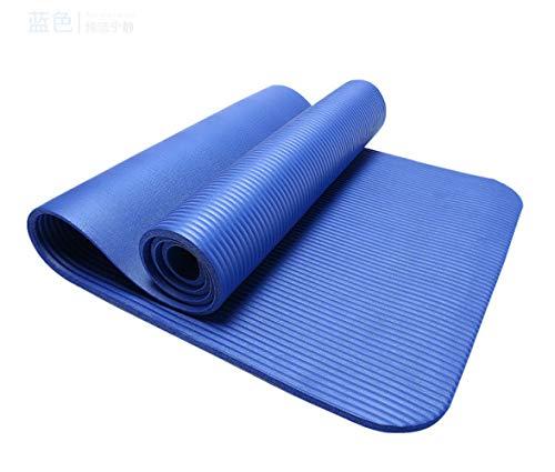 Lengthen - Esterilla de yoga (200 cm de ancho, 100 cm, tamaño extragrande), azul
