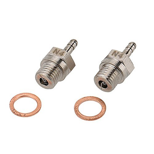 Goolsky 2Pcs 70117 N4 Glow Plug Spark Plug for 1/10 HSP RC Car