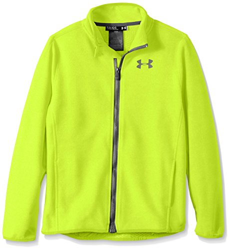 Under Armour Boys' ColdGear Infrared Performance Fleece Jacket, High-Vis Yellow /Reflective, Youth X-Large
