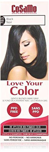 Love Your Color Cosamo Non Permanent Hair Color, Black