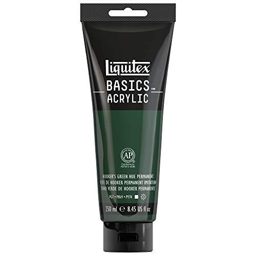 Liquitex BASICS Acrylfarbe, Hooker's Green Hue Permanent, 8.45-oz tube