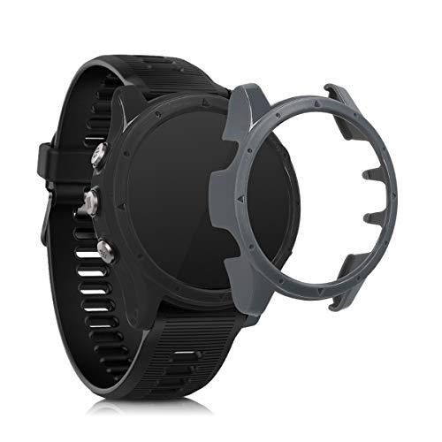 kwmobile Set de 2 Fundas Compatible con Garmin Forerunner 935/945 - Carcasa Dura para Fitness Tracker en Negro/Gris