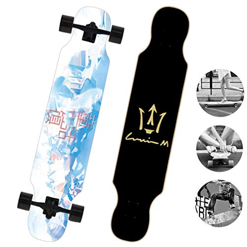 DUBAOBAO Straight-Fall-Skateboard - Longboard für Kinder Longboard-Skateboard - Skateboard für Anfänger, direktes Cruiserboard,3