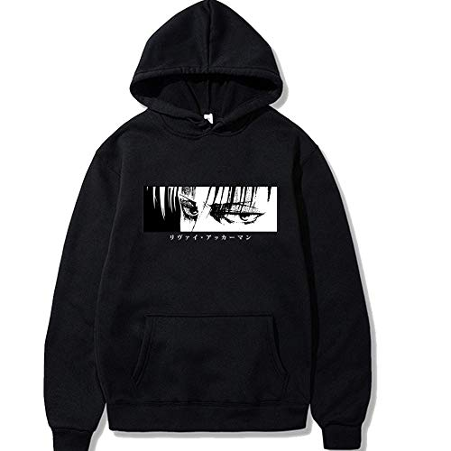 Tanwenling33 Attack on Titan Hoodie Damen Herren Eren Levi Ackermann Mikasa Sweatshirt Pullover Shingeki No Kyojin Kapuzenpullover