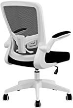 Office Chair, FelixKing Ergonomic Desk Chair with Adjustable Height and Lumbar Support Swivel Lumbar Support Desk Computer Chair with Flip up Armrests for Conference Room (White)
