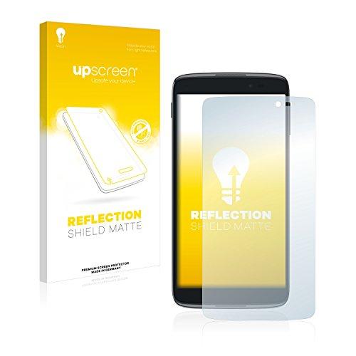 upscreen Entspiegelungs-Schutzfolie kompatibel mit Alcatel One Touch Idol 3C – Anti-Reflex Bildschirmschutz-Folie Matt