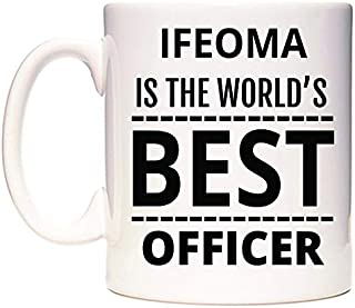 IFEOMA Is The World's BEST Officer Taza por WeDoMugs®