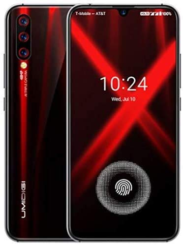 Cellulari Smartphone Offerte, UMIDIGI X Sensore di impronte sotto lo schermo 6.35' AMOLED 48MP Tripla Fotocamera posteriore 128GB NFC Helio P60 4150mAh Global Version – Fiamma Nero