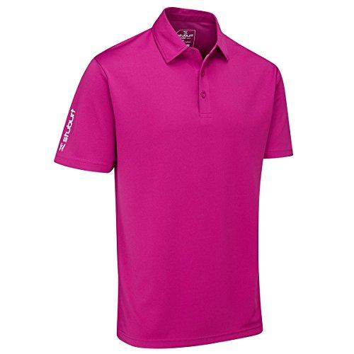 Stuburt Polo de Sport pour Homme Vert Taille S M Prune
