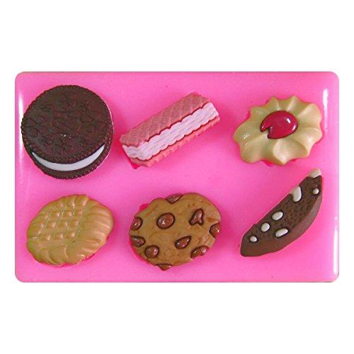 Galletas de Chocolate de Oblea Jammie Dodger Oreo Molde de silicona para la torta de Decoración Pastel de Cupcake Toppers Glaseado Sugarcraft Tool por Fairie Blessings