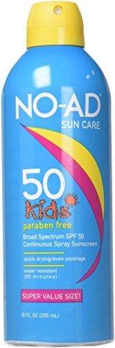 NO-AD Kids Sunscreen Spray SPF 50 8.7oz