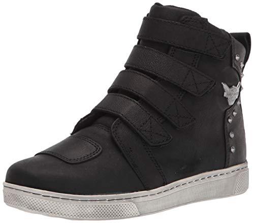 HARLEY-DAVIDSON FOOTWEAR Women's Bateman Metal Velcro Motorcycle Boot, Black, 9.5
