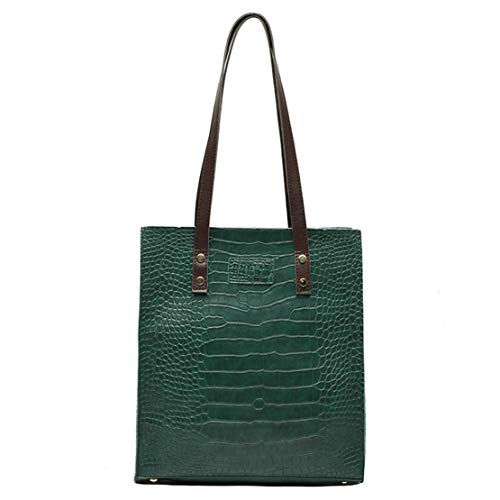 【Material】:Made of Durable and High Quality Vegan Leather -Which don't Hurt Animals 【Style】:Crocodile Pattern Design 【Cleaning】: Easy Cleaning with a Damp Cloth and Let it dry Naturally 【Dimensions】:12.2 X 11.0 X 3.9 inch 【Money-back Guarantee】:For 3...