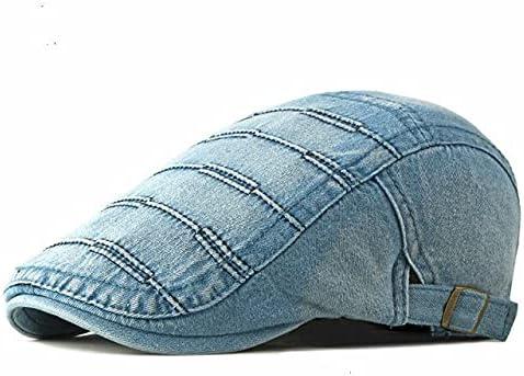 Zboro Winter Men Beret Cool Denim Unisex Berets Fashion Casual Short Brim Cap Hat Denim Women Beret Adjustable Cheap - Lightblue - 55-60cm