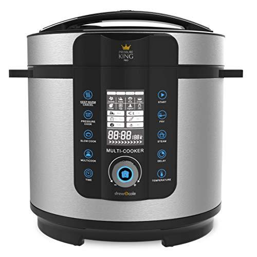 Drew & Cole Pressure King Pro Electric Pressure Cooker 20-in-1 Multi Cooker, Rice Cooker