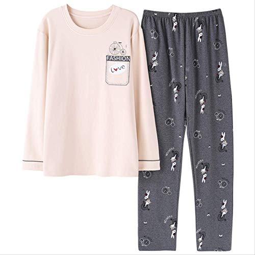 Herren Pyjamas Sets Herbst und Winter Langarm Home Wear Cotton Pyjamas Herren Casual Pyjamas Anzug Plus Size 3XL Unterwäsche XXL