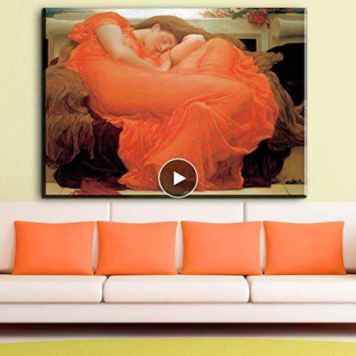 Danjiao Retrato Mujer Pintura Frederic Leighton Icarus Y Daedalus Impreso Pintura Al Óleo De Alta Calidad Sala De Estar Decor 40x60cm