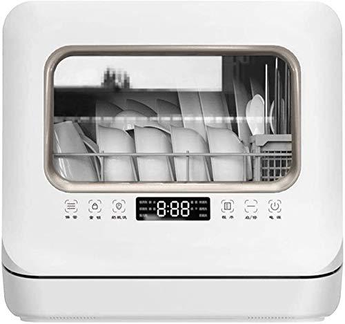 Table Lave-vaisselle pose libre Mini lave-vaisselle automatique portable avec 6 couverts - haute désinfection tempeature fonctions de lavage Cinq Efficacité énergétique