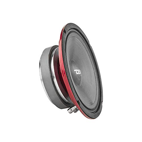"DS18 PRO-SM6.2 Slim Loudspeaker - 6.5"", Midrange, Red Steel Basket, 500W Max Power, 250W RMS, 2 Ohms - Premium Quality Audio Speakers - IP66 Water Resistance, Perfect for Motorcycle Applications"