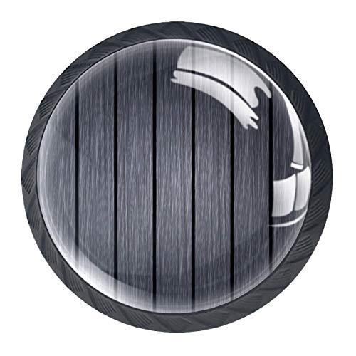 Perillas para puertas Perillas tipo hongo para armarios paquete de 4 perillas para cajones perillas sólidas para gabinetes cajoneras Madera gris 3.5×2.8CM