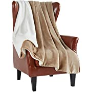 MERRYLIFE Sherpa Throw Blanket Ultra-Plush Comfort | Decorative, Soft, Colorful | Home, Couch, Outdoor, Travel Use