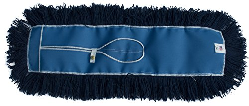 Nine Forty Industrial Strength Premium Nylon Floor Dust Mop Refill | Commercial Cleaner Mop Head Replacement (24 Wide X 5)
