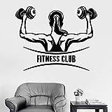 yaonuli Calcomanías de Pared de Fitness para Mujeres Artículos para el hogar de Levantamiento de Pesas Mural extraíble Calcomanía de Estudio de Fitness 28X28cm