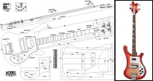 Plan von Tokai rebelrocker Bass–Full-Scale Print