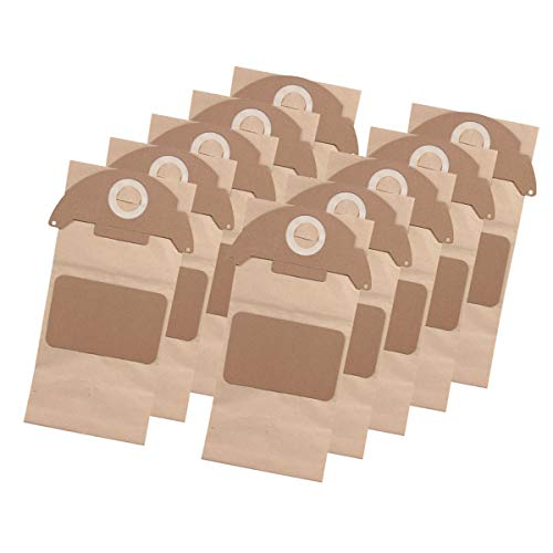 10x Staubsaugerbeutel/Saugertüte für Kärcher 2101, 2105, 2111, 2301, 2501, 2501 TE, 2601, 2601 Plus, 3001, 3001 Hot, 3001 Plus - lang