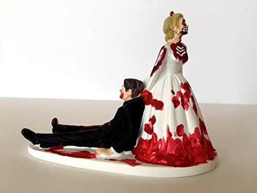 Brunette Bride Dragging Groom Cake Topper