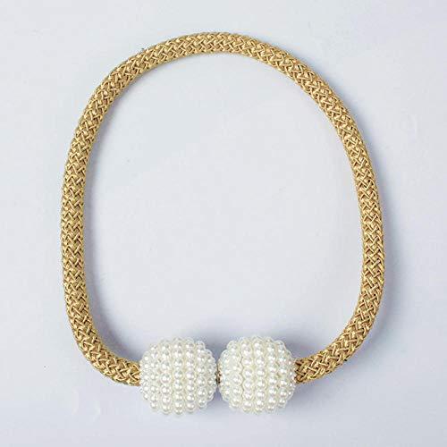 HNLHLY 4 stuks parelgordijnclips magnetische kogel hanger gesp accessoires voor gordijnen azul claro