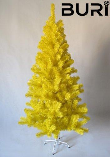 1a-Handelsagentur Weihnachtsbaum BURI gelb verschiedene Größen, Größe:210 cm