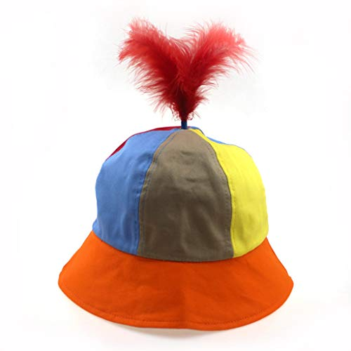 Indnn Kappe für Kinder, wendbar, mit abnehmbarem Federbälle, Osterzubehör