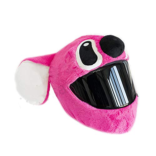 FireBee Housse de Casque de Moto Moelleux drôle s'adapte à Tous Les Accessoires Masque de Protection décoration à la Main pour Le Ski de Moto (Oreilles Roses)