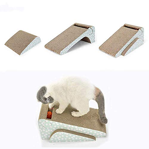 meleg otthon Kratzpads für Katzen,Rampe Katzen kratzbrett,2 in 1 Katzen Kratz Spielzeug (42 * 24 * 16.5cm)