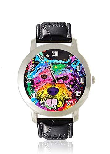 Dean Russo Sexiest Queen Size Herren Armbanduhr Dünn Slim Minimalist Armbanduhr für Frauen Mode Wasserdicht Analog-Kleid Lederarmband Geschenk