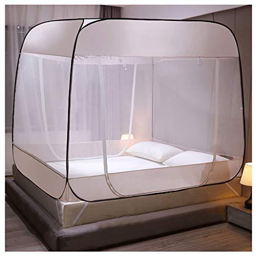 LXLTL Pop Up Moskitonetz Bett Baldachin Bettzelt Faltbare Doppelbett Moskitonetz Anti Moskito Mückenzelt Moskitonetz,Weiß,200x220x165cm