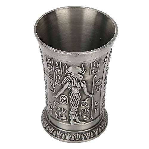 Vasos de chupito de metal Copa de whisky Mini taza de cerveza Vasos de chupito para decoración de regalo Adornos Estilo vintage(Bronce)