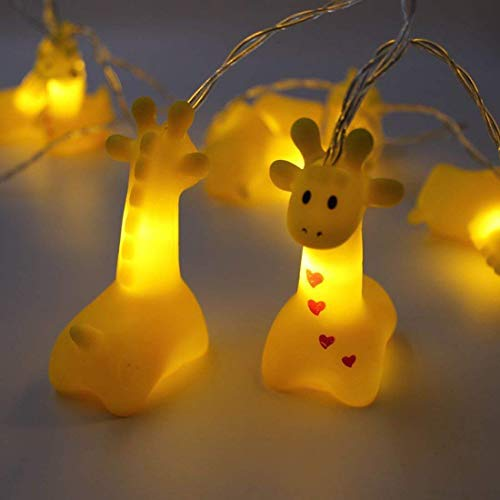 Fantes 1.5M 10 LED Giraffe String Lights Battery Operated LED Fairy Fantastic Lights for Bedroom Baby Room Child Room Birthday Party Decoration (Giraffe)