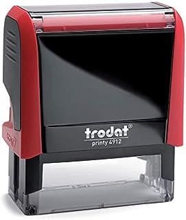 Tampon Trodat X-print 4912 encrage automatique rechargeable, texte PAYÉ, encre de couleur rouge, format de l'impression 47...