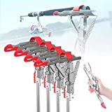【4 Pack】 Automatic Spring Fishing Rod Holder, Stainless Steel Folding Rod Stand for Fishing, Adjustable Sensitivity Fishing Bracket. Ideal for Fishing on Shores, Lakes, Ponds and Rivers
