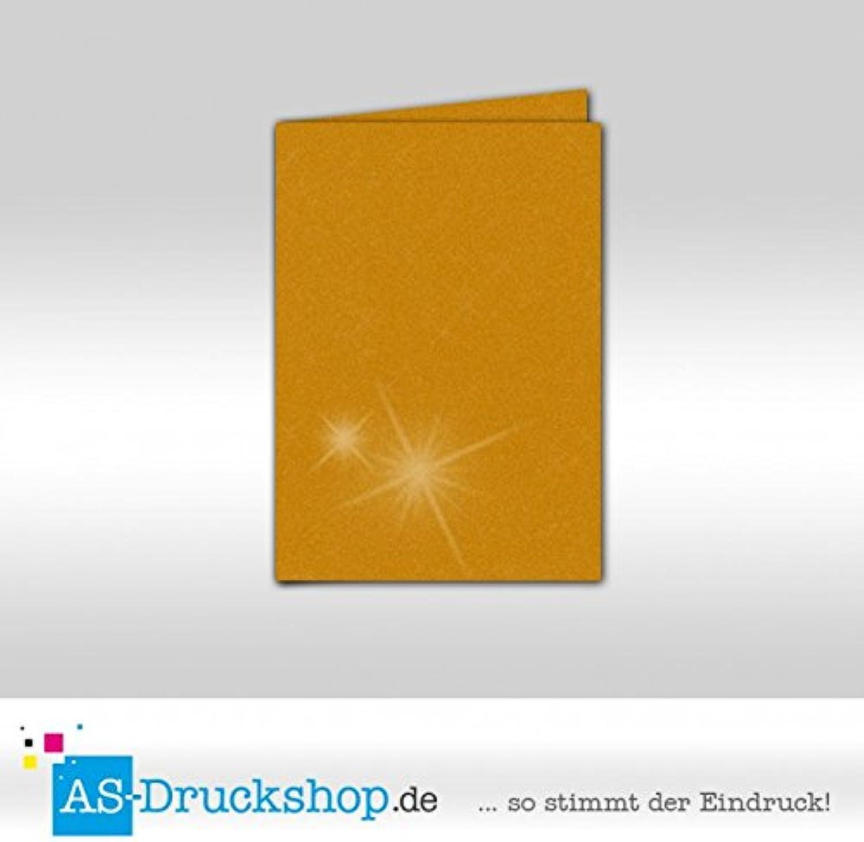 Faltkarte Doppelkarte - Gold metallic 50 Stück Stück Stück DIN B6 B0795172SF | Stil  | Sonderaktionen zum Jahresende  | Bekannt für seine gute Qualität  a8724a