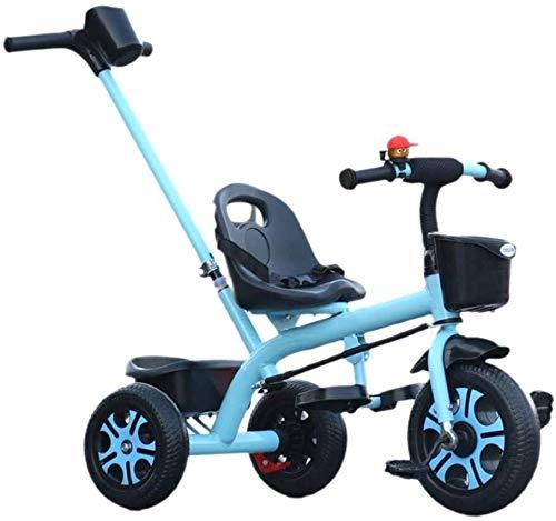 Triciclo Passeggino per Bambini Triciclo Comodo carrozzatore carrello triciclo triciclo carrello per bambini Bicking wheels doppi freno Bicycle 3 ruote (ragazzo / ragazza, 2-6 anni) Sedia a spinta del