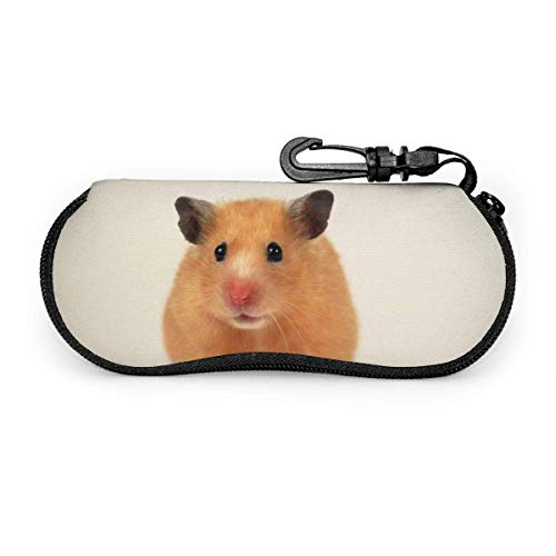 Wthesunshin Lovely Small Hamster Gafas de sol Soft Case Zipper Eyeglass Case...