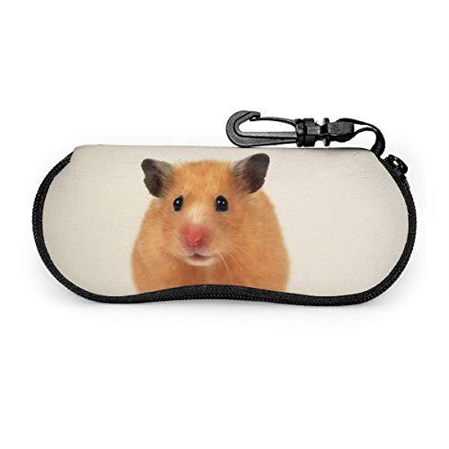 Wthesunshin Lovely Small Hamster Gafas de sol Soft Case Zipper Eyeglass Case...