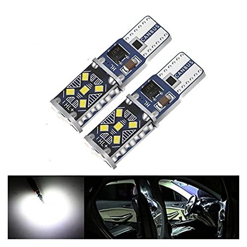 ScottDecor Lámpara 2 unids T10 W5W Super Brillante LED Light LIRSE AUTOMÁTICO Doom Doom BULLB VEHÍCULO Wedge GURN GURNO Interior Aparcamiento DRL Lámpara Blanco 12V (Emitting Color : White)