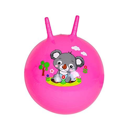 HLQTY Kindersprungball Kindergartenmassageball Spielzeug for draußen Aufblasbarer Kinderball Interessantes Spielzeug (Color : Pink, Size : 40CM)