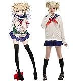 Zopmopae Traje de Disfraz de Cosplay de Himiko Toga, My Hero Anime Academia Himiko Toga Juego Completo de Halloween con Accesorios Vestido de Marinero Uniforme JK para Mujeres y niñas