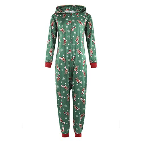 Bnrsyku Familie Weihnachten Kapuzenpullover Overall Pyjamas Nachtwäsche Hirsch Langarm Sweatshirt Bodys Kleidung (S, Mama)
